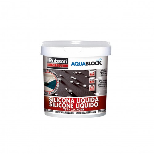 Silicona líquida Rubson Aquablock blanco 1 kg