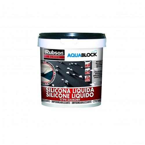 Silicona líquida Rubson Aquablock negro 5 kg