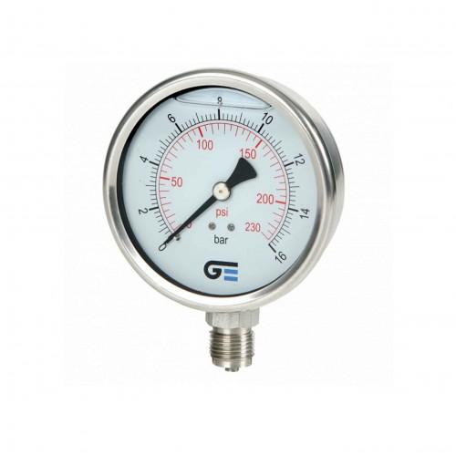 Manómetro de acero inoxidable AISI304