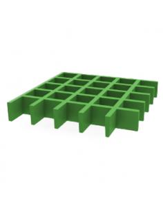 Rejilla PRFV verde con sílice ISO 30 31x31