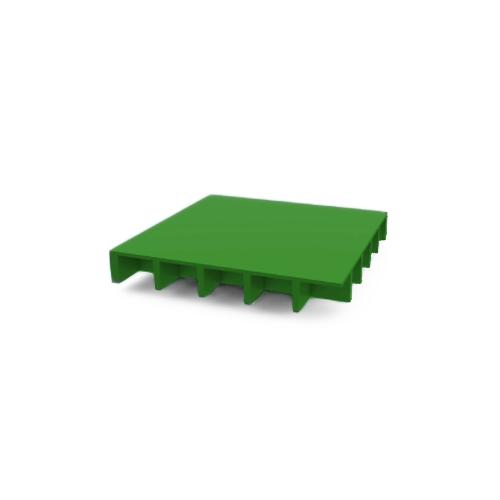 Rejilla ciega PRFV verde con sílice ISO 30