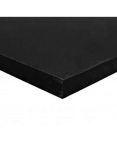 Placa Polietileno negro 2000x1000 mm