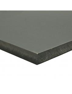 Placa PVC rígido gris RAL 7011 2000x1000 mm